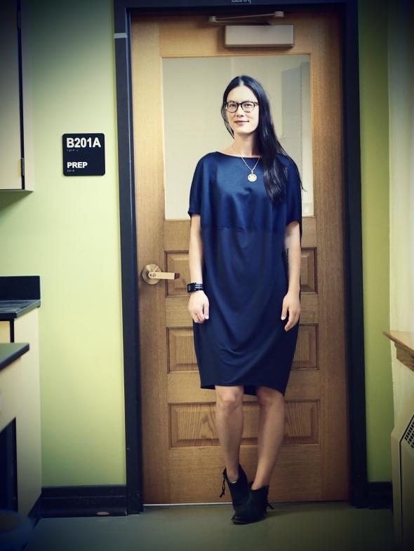 cos-draped-contrast-dress