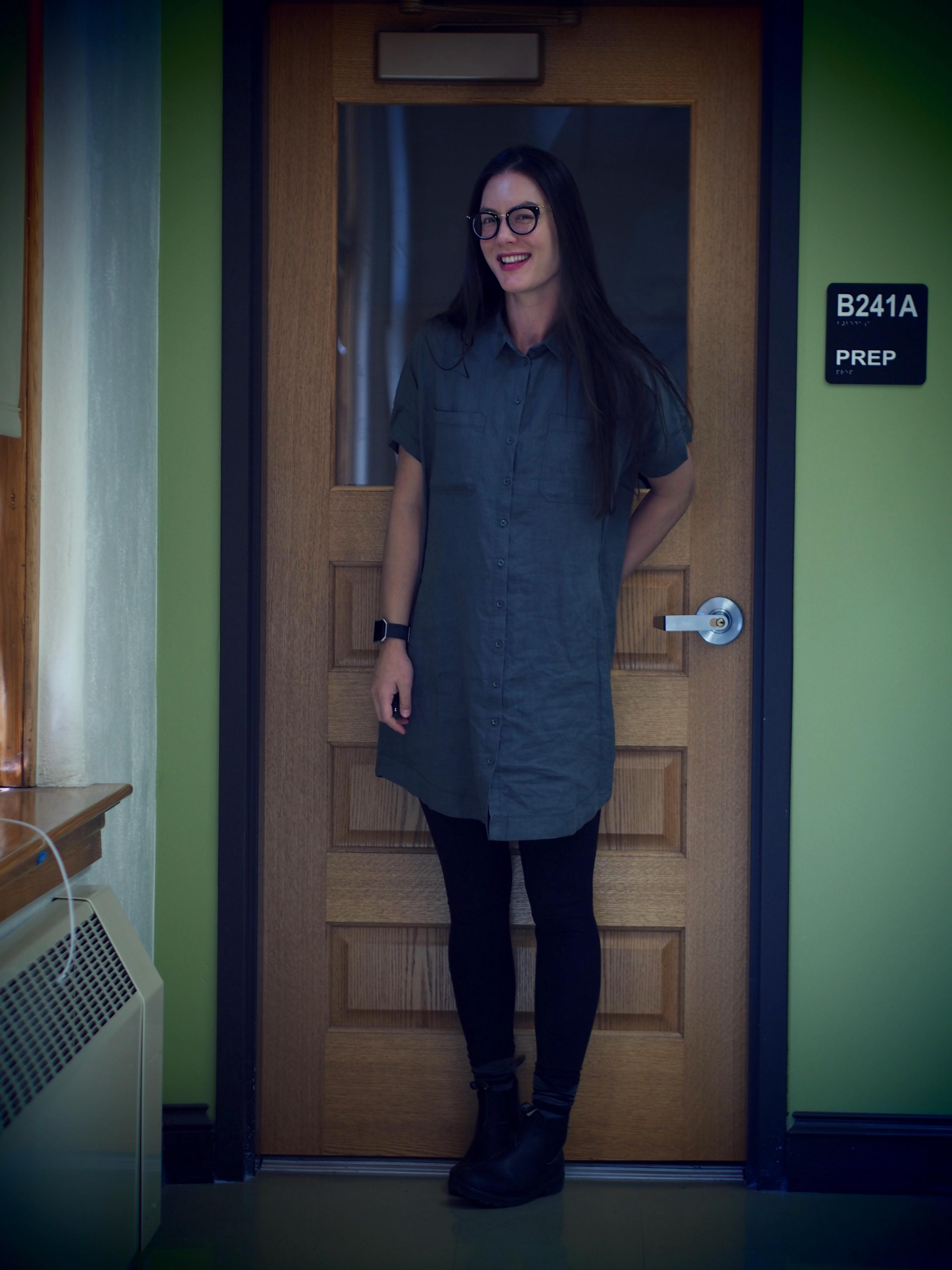 THLT monoprix olive shirt dress
